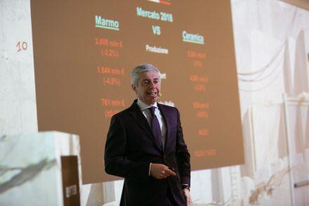 Flavio Marabelli, honorary president of Confindustria Marmomacchine.