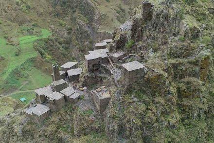 Eines der Gewinnerprojekte 2019: das befestigte Dorf Mutso in Georgien. Foto: National Agency for Cultural Heritage Preservation of Georgia