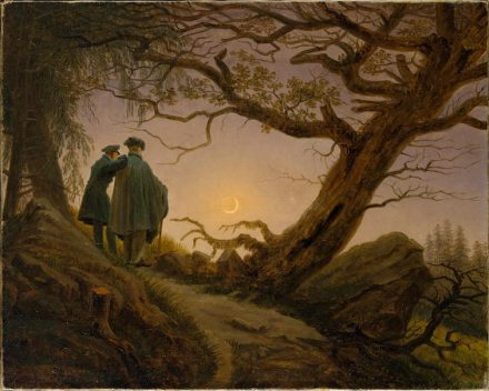 "One of the most important paintings of romanticism: ""Two men contemplating the Moon"", Caspar David Friedrich (1774-1840). Source: The MET / <a href=""https://commons.wikimedia.org/""target=""_blank"">Wikimedia Commons</a>"