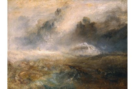 Joseph Mallord William Turner, Rough Sea with Wreckage, ca.1840/4, Öl auf Leinwand, 192.1 x 122.6 cm, © Tate, London, 2019.
