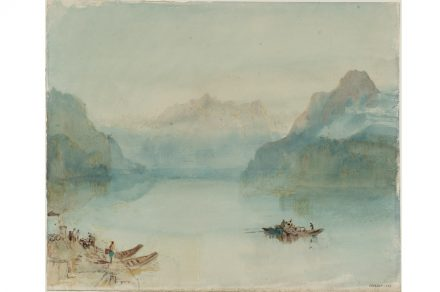 Joseph Mallord William Turner, Lake Lucerne: The Bay of Uri, from Brunnen, ca.1841/42, Aquarell auf Papier, 24.4 x 29.9 cm, © Tate, London, 2019.