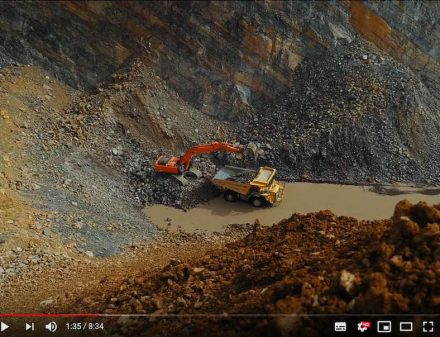 "Screenshot of the ""Life in Quarries"" video."