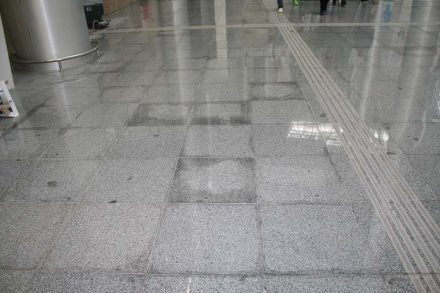 Water seeping into flooring tiles is a constant source of anxiety because the stone become darker.