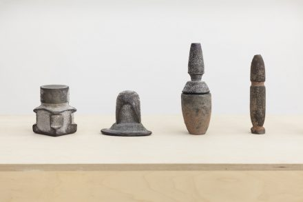"Mariana Bercecová: Objects from the collection ""Journey to Mars"". Basalt, cast. Photo: Studio Flusser"