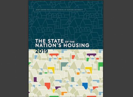 "Cover of the ""2019 State of the Nation's Housing Report""."