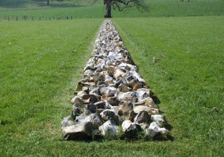 "Roche Court Sculpture Park: Richard Long, ""Tame Buzzard Line"" (2001). Photo: New Art Centre"""