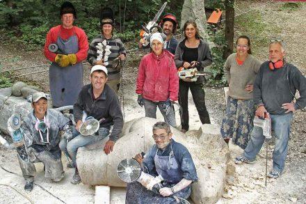 Teilnehmer und Mitwirkende des Bildhauersymposiums 2019.