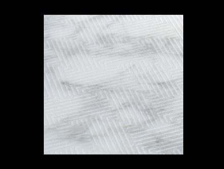 "Tile Collection: ""Wicker"", Marble Calacatta."