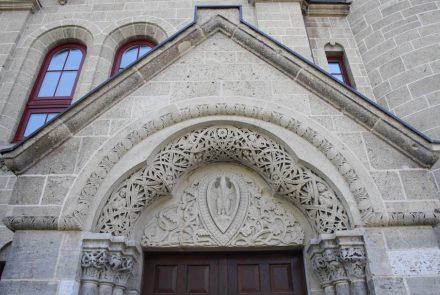 Koblenz, Bundeswehrbeschaffungsamt, 1902-1906, Fassade aus Ettringer Tuffstein.