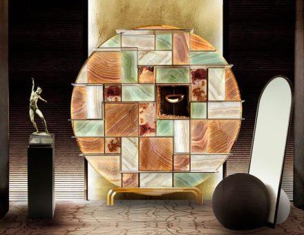 "Arte nel Design: bookshelf ""Mondrian""."