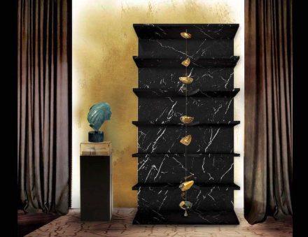 """Arte nel Design: bookshelf """"Sfera""""."""