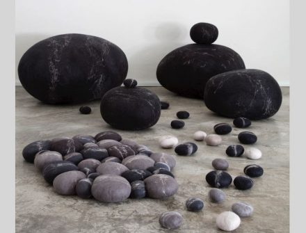 Wool pebbles by Ronel Jordaan. Photo: Ronel Jordaan