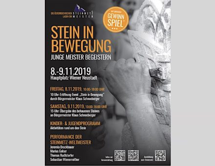 Das Plakat zum Naturstein-Wochenende in der Wiener Neustadt.