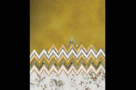 "Antique Mirror, Cristina Celestino: ""Cevron"", Lampassi collection."