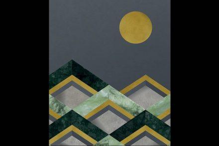 """Antique Mirror, Cristina Celestino: """"Losanghe"""", Lampassi collection."""