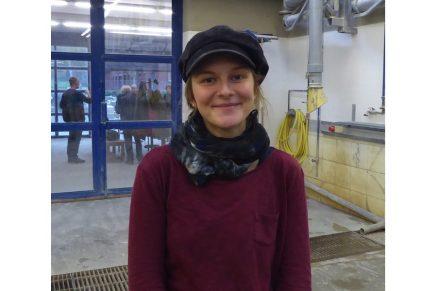 Marlene Bosold, erste Bundessiegerin bei den Steinmetzen im Wettbewerb PLW. Ausbildungsbetrieb ist die Monolith GmbH in Bamberg.