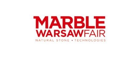 "The logo of ""Marble Warsaw Fair""."