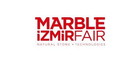 Das Logo der Messe Marble in Izmir.