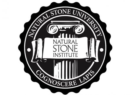 The logo of the Natural Stone University.