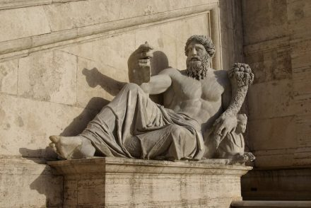 """Roman allegory of the river Nile, the longest river on Earth and the nurturer of the ancient Egyptian dynasties (Piazza del Campidoglio, Rome). Photo: Janericloebe / <a href=""""https://commons.wikimedia.org/""""target=""""_blank"""">Wikimedia Commons</a>"""