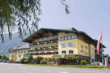 Das Hotel Hubertushof in Anif unweit von Salzburg. Foto: Hotel