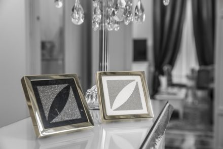 DiamArt combines micro diamonds with marble to produce  exclusive objects for interior design and decoration.