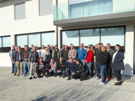 Gruppenbild mit den Teilnehmern des Fila-Profikurses 2019 in Italien.