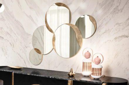 Auf den Möbelmessen sieht man immer mehr Produkte, bei denen Naturstein eine Rolle spielt.