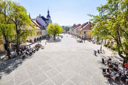 Atelier Arhitekti: Redesign of the old market square in Novo Mesto. Photo: Peter Žunič Fabjačič
