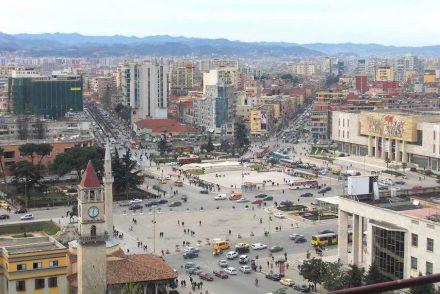 Skanderbeg-Platz in Tirana.
