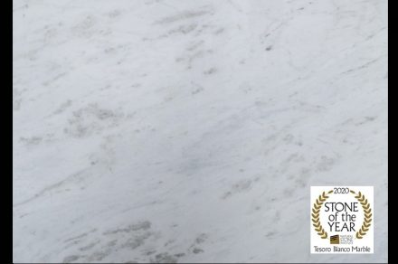 Tesoro Bianco marble by Granitos Zucchi has been chosen as the 2020 Natural Stone Institute Stone of the Year.