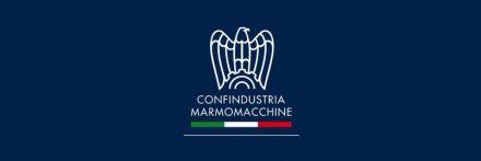 Confindustria Marmomacchine's logo.