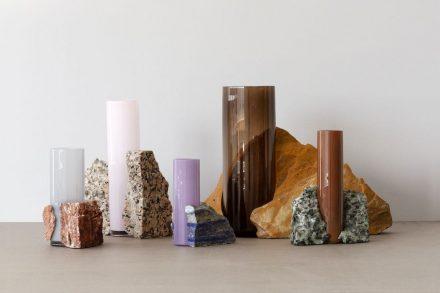 """Erik Olovsson: """"Drill"""" vases."""