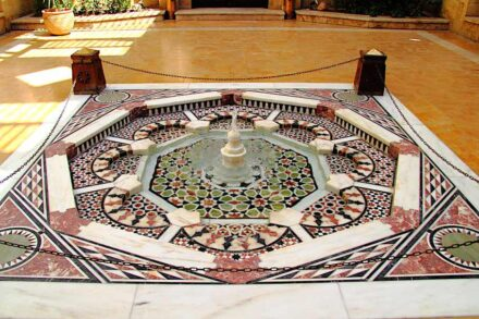 "Fountain with natural stone mosaic in Al-Azhar Park. Photo: Djibouti / <a href=""https://commons.wikimedia.org/""target=""_blank"">Wikimedia Commons</a>"