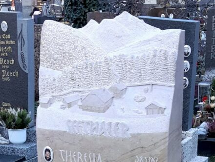 "Aknowledgement for master stonemason Marius Golser: ""Heimat und Berge"" (Home and Hills)."