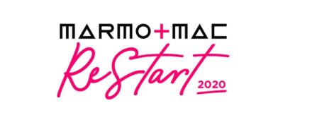 "Das Logo des ""Re-Start 2020 Project"" der Marmomac."