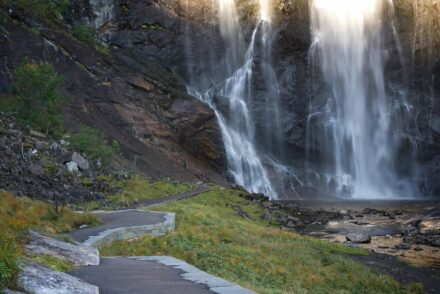 Skjervet waterfall in Norway.