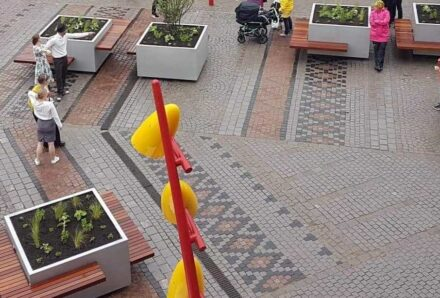 Der Hagatorget in Karlstad, Schweden.
