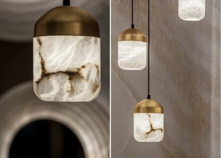 "United Alabaster: die Lampe ""Glans""."