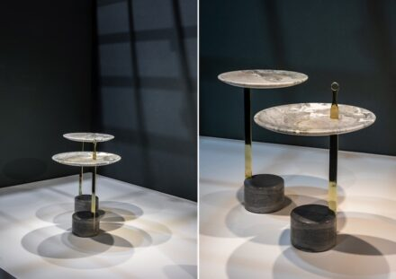 "Bruno Faucz: side table ""Hago"". Company: Quartzblue."