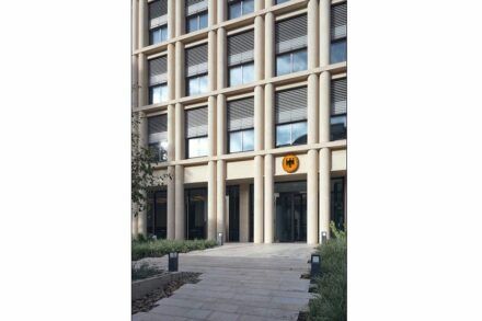"Winner: category ""Public and commercial buildings"": German Embassy in Paris; Architects: Prof. D.G. Baumewerd, Münster; Used natural stone: facade: St. Maximin Ferme Fine Limestone, exterior flooring: Jurassic Limestone."