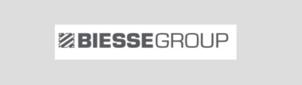 The logo of Biesse Group.