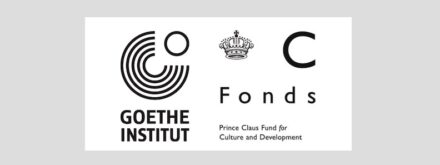 Logos of Goethe-Institut and Prince Claus Fund.