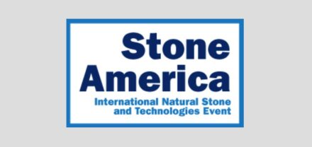 "Logo of the new fair ""Stone America""."