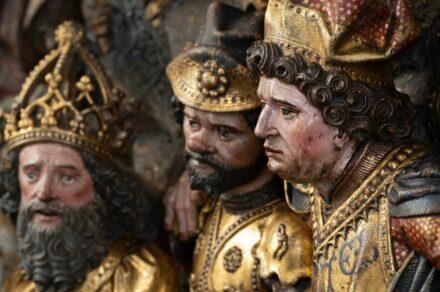 Georgsaltar (Detail), Werkstatt des Meisters Arnt von Kalkar und Zwolle, 1483–1487, St. Nicolai, Kalkar. Foto: Stephan Kube, Greven