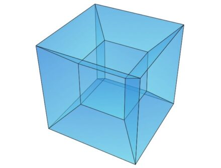 "The shape of the Grande Arche is a tesseract cube. Inside it has a smaller cube, which here is a cavity. Source: <a href=""https://commons.wikimedia.org/""target=""_blank"">Wikimedia Commons</a>"