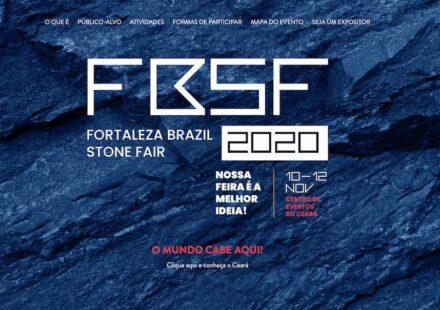 Screenshot of the webpage of Fortaleza Brazil Stone Fair.