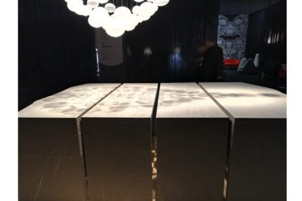 "Julia Marmi, designer Davide Vercelli: long table ""Mont""."