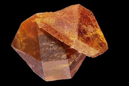 Tabular monazite (top right ca. 2.6 mm size) on a xenotime crystal. Königsalm near Senftenberg, Lower Austria. Source: Martin Slama