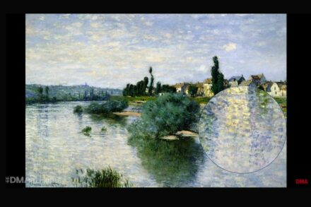 "Screenshot from the Break for Art ""The Seine at Lavacourt"", Claude Monet."